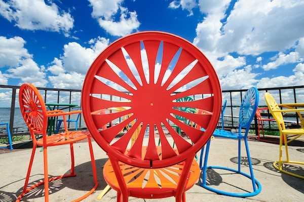 Terrace chair.